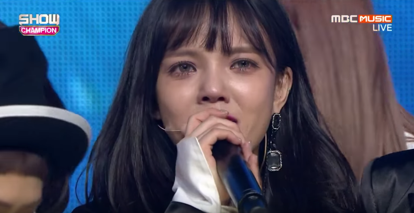 "AOA's Jimin Talks About Her Tears After ""Show Champion"" Win"