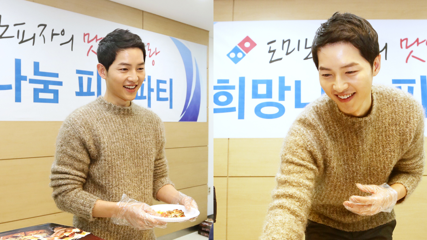 Song Joong Ki Holds A Pizza Party At Children's Hospital