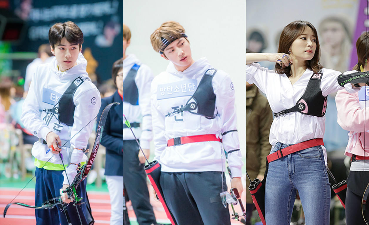 Which Idol Archer Breaks The Bullseye Camera In The 2017 Idol Star Athletics Championships?