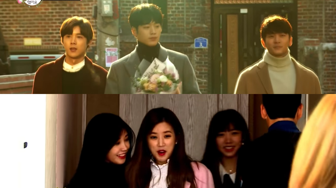 """5urprise And Apink Bewilder And Bedazzle As """"In-Laws"""" In """"We Got Married"""" Preview"""