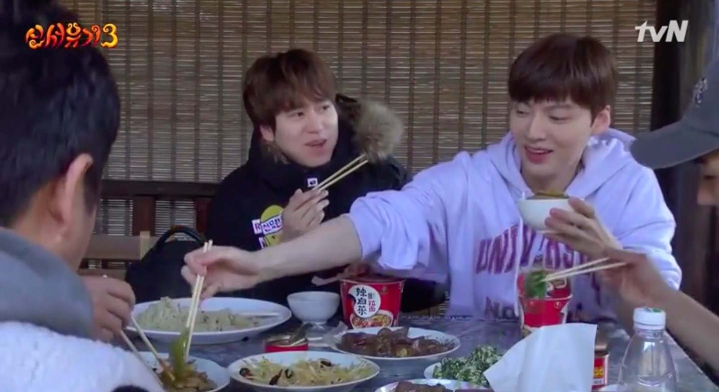 "Kyuhyun Accuses Ahn Jae Hyun Of Spooning Him On ""New Journey To The West 3"""
