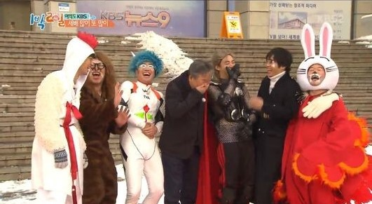 """Cast Of """"2 Days & 1 Night"""" Usher In Lunar New Year With Terrific (And Horrific) Costumes"""