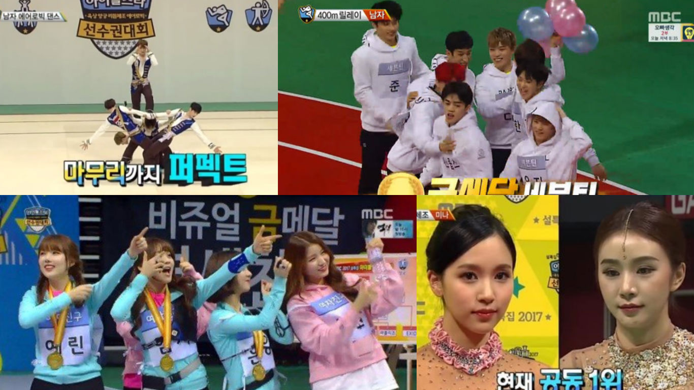Seventeen Gfriend And More Win Gold At 2017 Idol Star Athletics