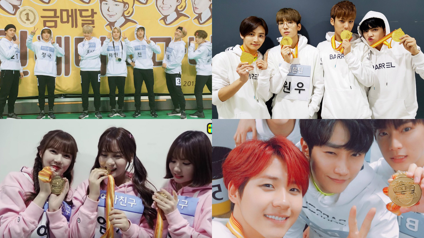 "BTS, SEVENTEEN, GFRIEND, B1A4, TWICE, And More Share Photos From ""2017 Idol Star Athletics Championships"""