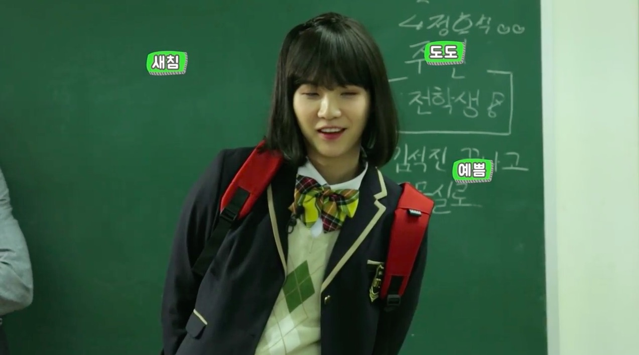 """BTS Tries To Win The Heart Of Hard-To-Get """"Female Transfer Student"""" Suga During Hilarious Skit"""