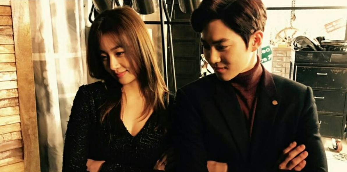 """Kang Sora Strikes A Pose With EXO's Suho For Photos From Set Of """"Curtain"""" MV"""