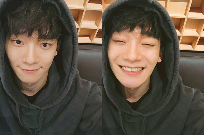 "EXO's Chen Sweetly Thanks Fans For ""Inkigayo"" Win"