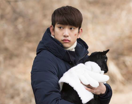 GOT7's Jinyoung Adorably Poses With Baby Goat In New Posters For Upcoming Film