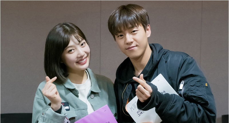 "Red Velvet's Joy And Lee Hyun Woo Pose For The Camera At Script Read-Through For ""The Liar And His Lover"""