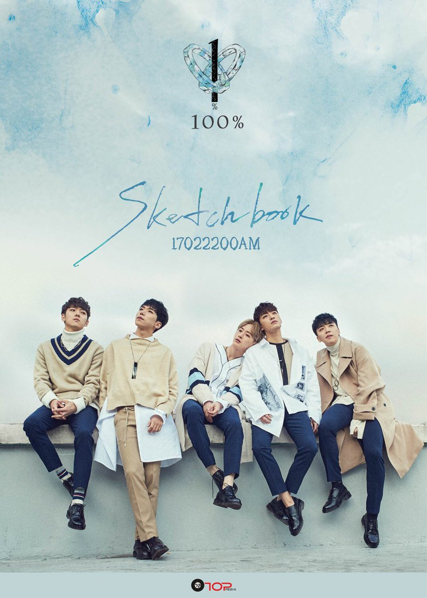 "Update: 100% Provides A Brief Listen To Their Tracks On Mini Album ""Sketchbook"""