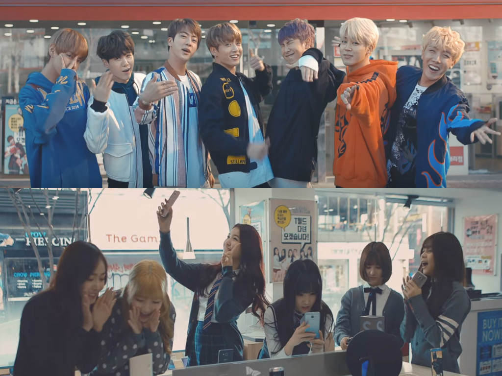 Watch: BTS And GFRIEND Get Students Running For SK Telecom