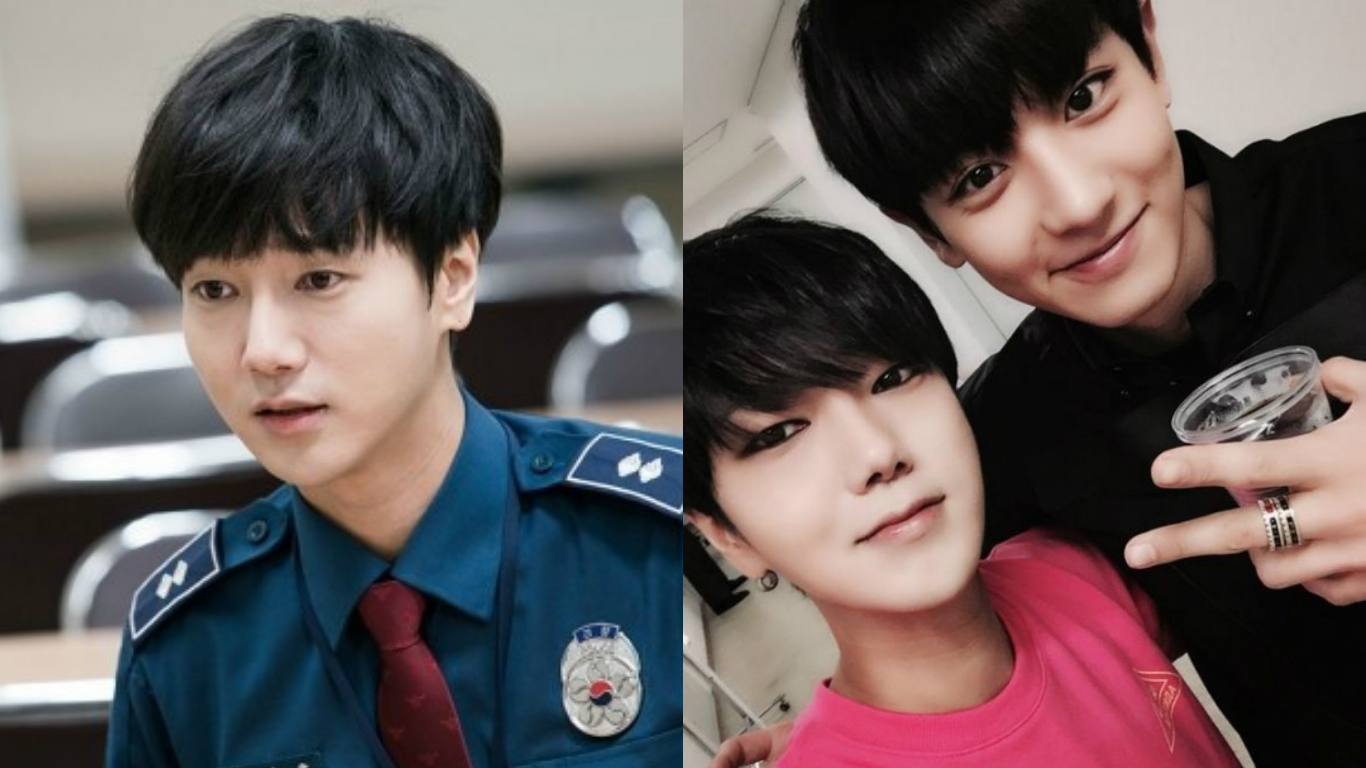 """Super Junior's Yesung Shares Photos Of Chanyeol's """"Cameo"""" In His Drama """"Voice"""""""