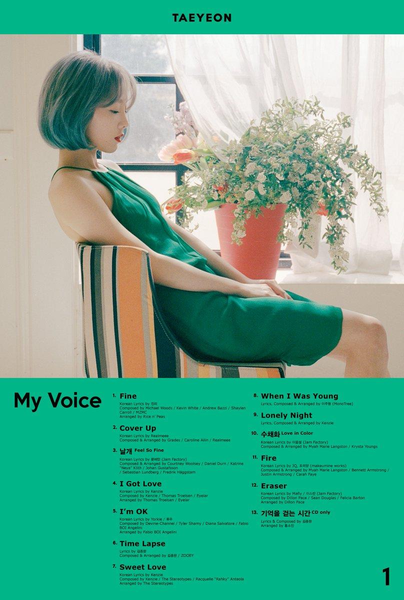 Taeyeon Tracklist