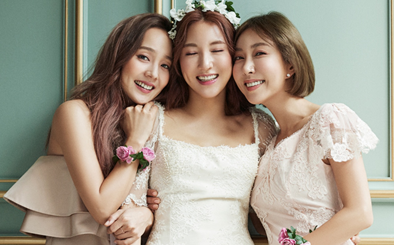 S.E.S's Eugene and Shoo Join Bride-To-Be Bada In Beautiful Wedding Photo Shoot