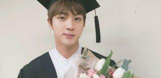 bts jin graduation