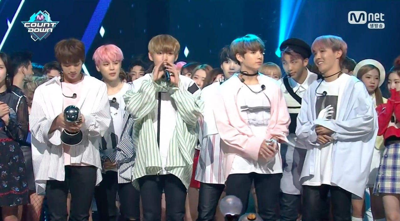 "Watch: BTS Grabs 2nd Win For ""Spring Day"" On ""M!Countdown,"" Performances By TWICE, Red Velvet, And More"