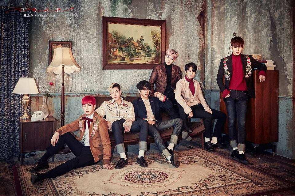 "Update: B.A.P Shares Group Teaser Photo For ""Rose"""