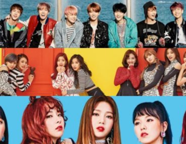 BTS TWICE Red Velvet
