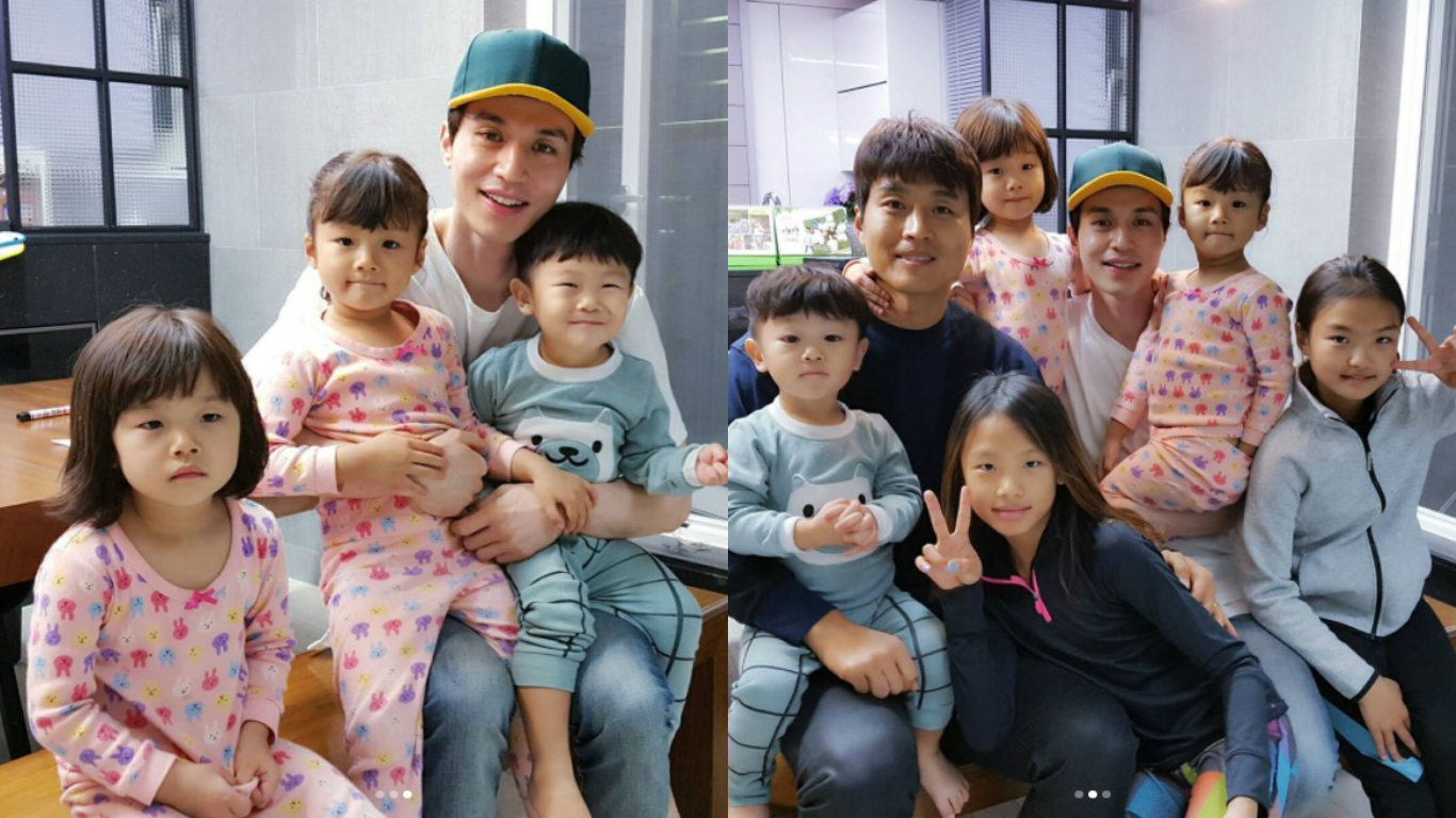 "Lee Dong Wook Reunites With Daebak And His Family, And Daebak Shows His Love For Him On ""The Return of Superman"""