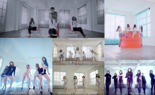 Playback, HELLOVENUS, Girl's Day, Stellar, Red Velvet, LABOUM