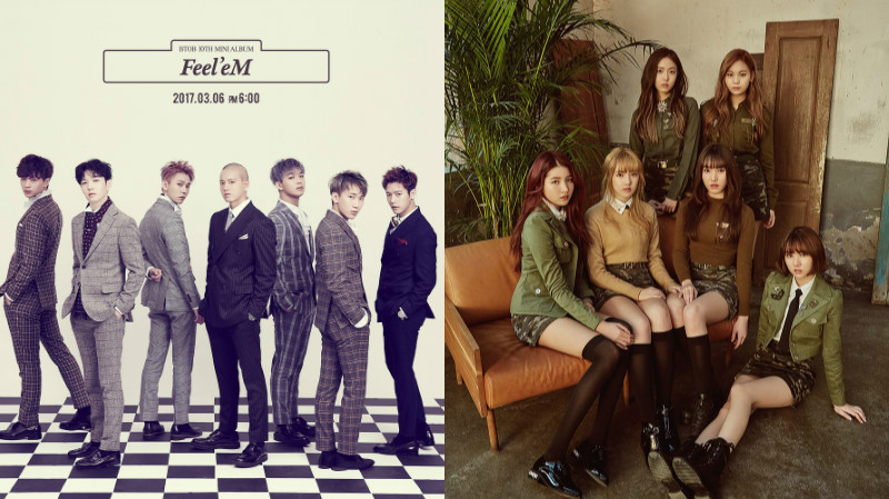 BTOB And GFRIEND Jointly Reach Top Spot On Music Charts