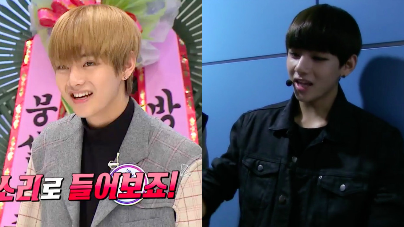 "Watch: BTS's V Is So Embarrassed By Old Clip He Has To Escape From ""Idol Party"" Set"