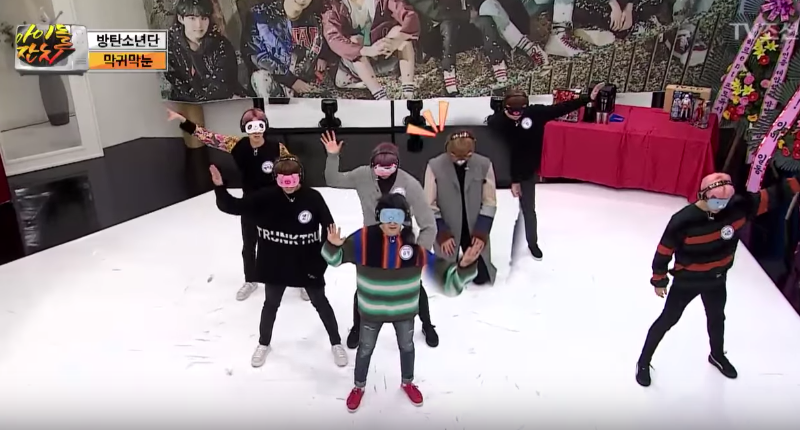 """Watch: BTS Takes On Another Challenge And Tries To Perform """"Not Today"""" With Covered Eyes And Ears"""