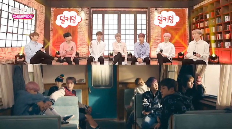 """Watch: BTS Reenacts Funny Trick They Used To Make A Scene More Convincing In """"Spring Day"""" MV"""