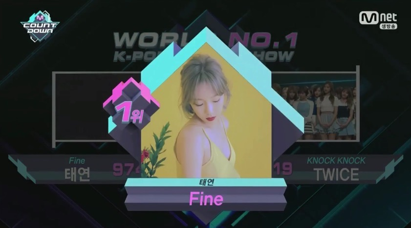 """Watch: Taeyeon Takes 1st Win For """"Fine"""" On """"M!Countdown,"""" Performances By TWICE, DAY6, GFRIEND, """"Produce 101,"""" And More"""