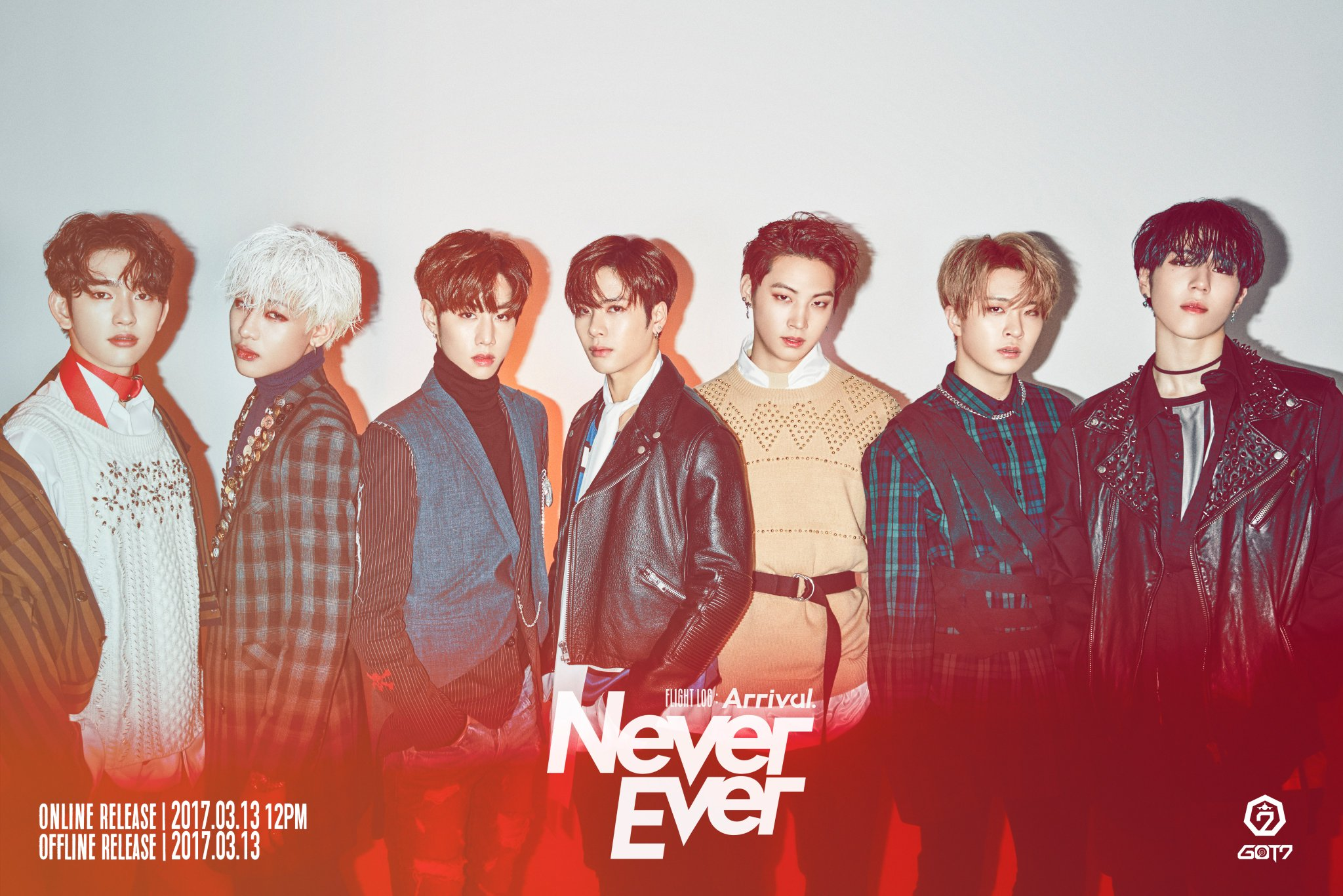 "Watch: GOT7 Reveals Striking First Look At ""Never Ever"" MV And New Group Photos"