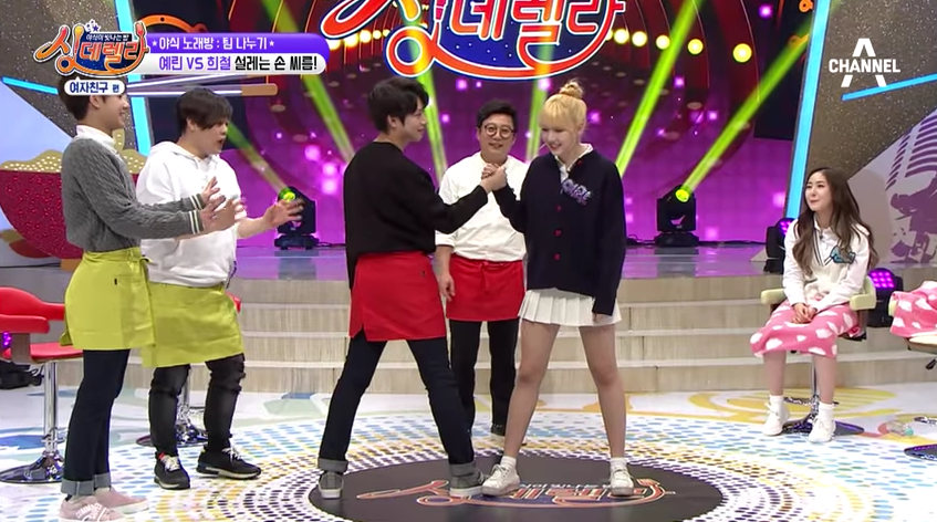 Watch: GFRIEND's Yerin Showcases Her Variety Skills And Challenges Kim Heechul To A Strength Battle
