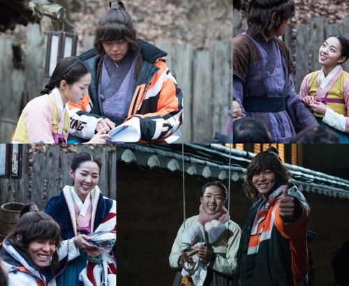 """Yoon Kyun Sang And Chae Soo Bin Take Care Of Each Other Behind-The-Scenes Of """"Rebel: Thief Who Stole the People"""""""
