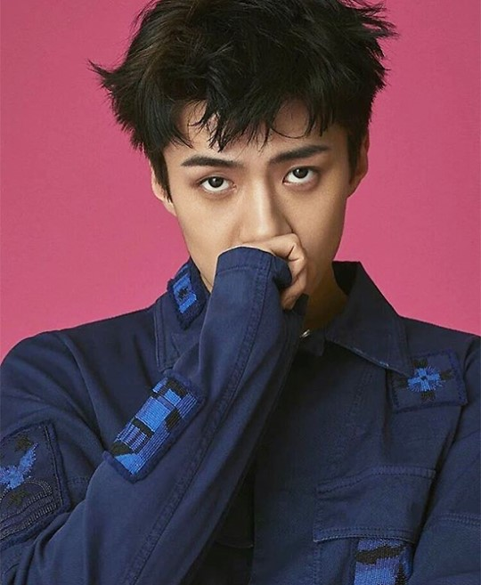 EXO's Sehun Perfectly Pulls Off Funky Patterns And Divergent Colors For Thai Magazine L'Optimum