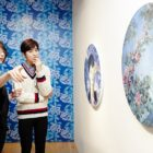 Suho Attends Opening Of American Painter's Exhibit Featuring EXO Members' Portraits
