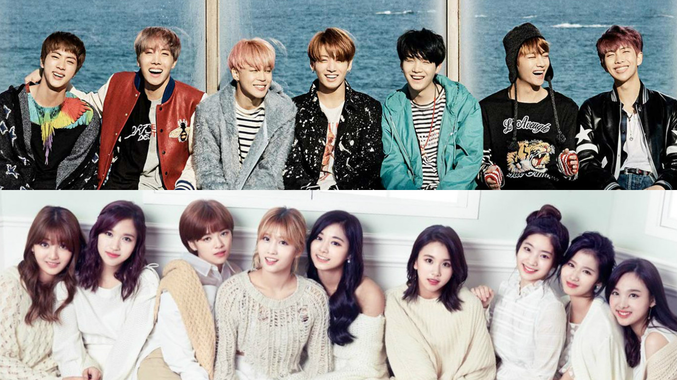 BTS And TWICE Voted The Current Top Male And Female Idol Groups By Entertainment Agencies