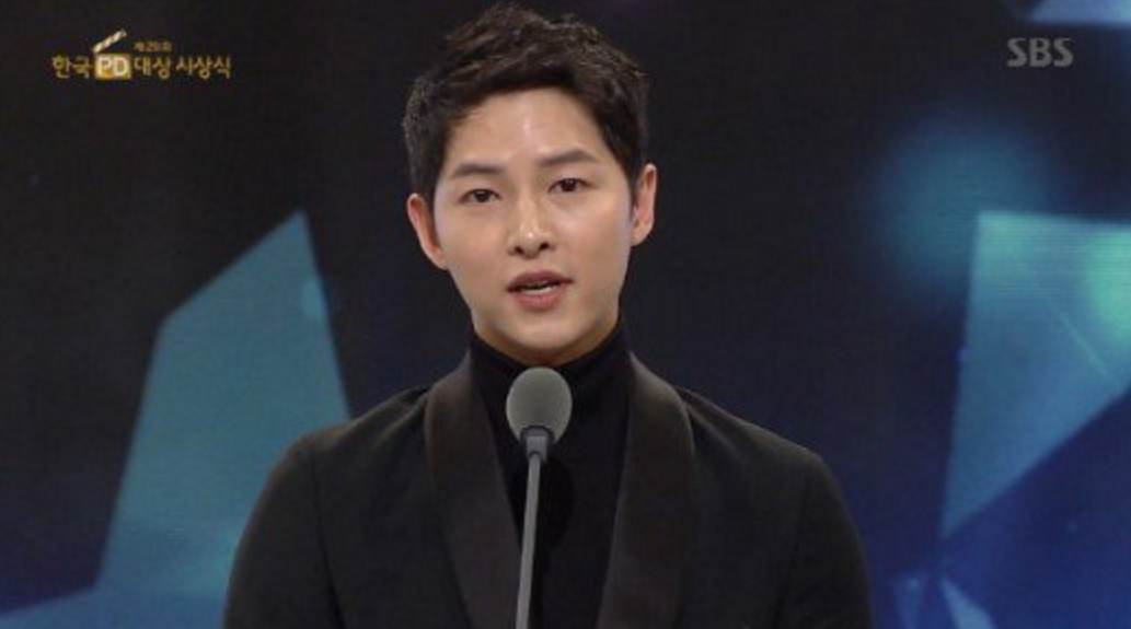Song Joong Ki Brought Screenwriter To Tears With His Speech At The 29th Korea Producer Awards