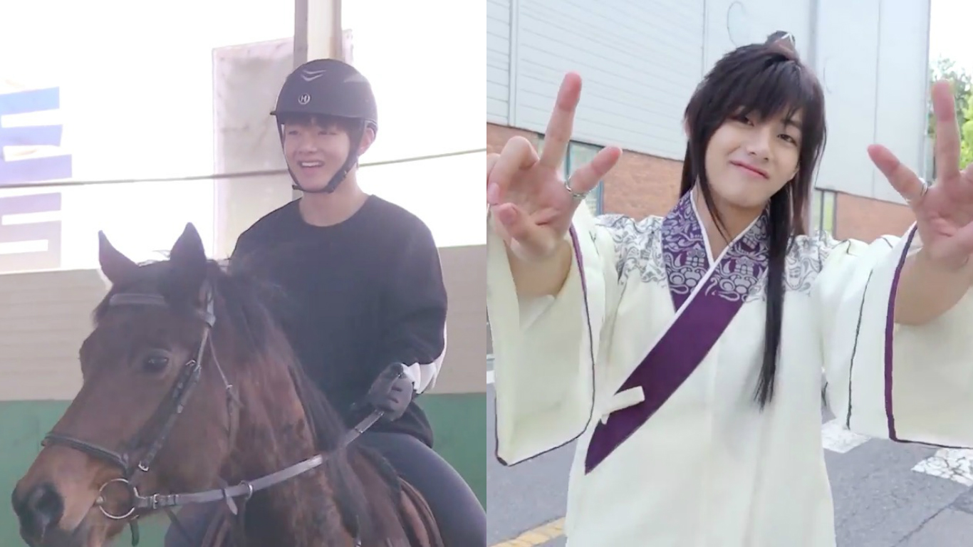 """Watch: BTS's V Takes Fans Behind The Scenes Of His """"Hwarang"""" Journey"""