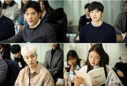 "tvN Shares Photos From Table Read For ""Circle"" Starring Yeo Jin Goo, Gong Seung Yeon, And More"