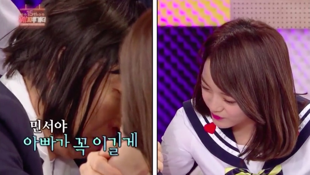 gugudan's Kim Sejeong Confidently Arm Wrestles Park Myung Soo, Girl's Day's Hyeri, And More