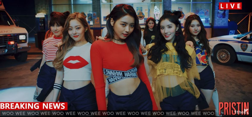 "Watch: PRISTIN Offer Fans A Behind-The-Scenes Look At The Making Of ""WEE WOO"" MV"