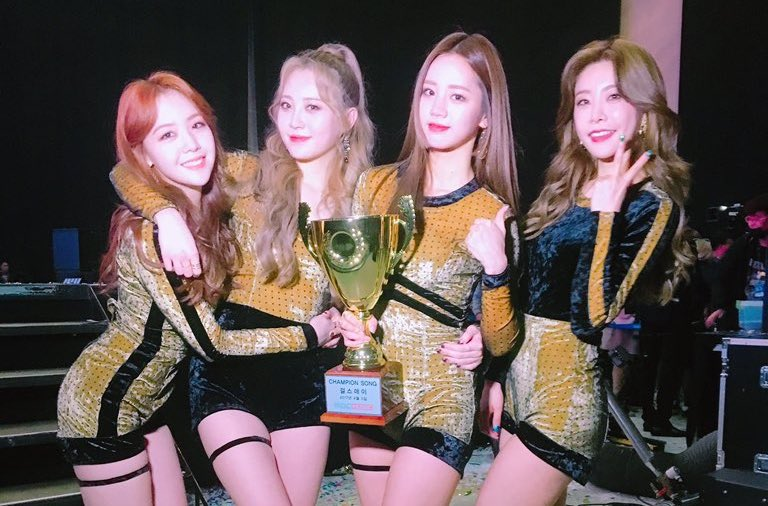 "Watch: Girl's Day Wins 2nd Trophy For ""I'll Be Yours"" On ""Show Champion,"" Performances By Highlight, CNBLUE, MONSTA X, And More"