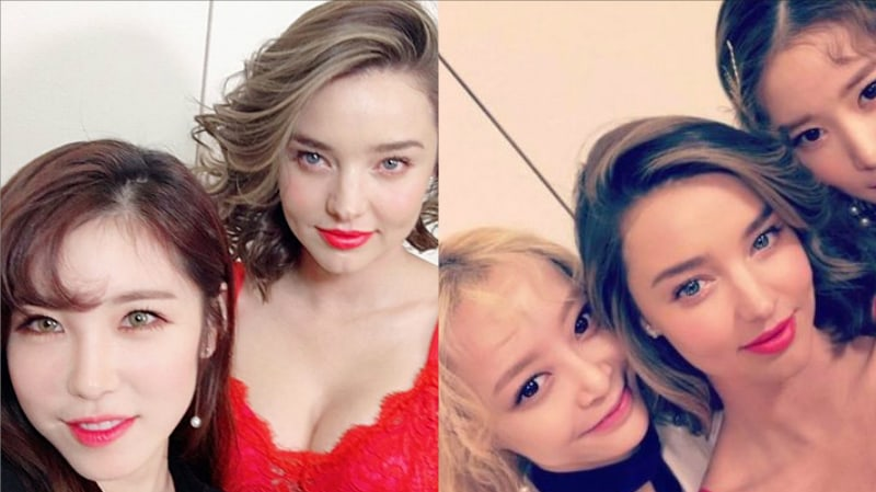 Secret's Hyosung And Melody Day Snap Photos With Miranda Kerr