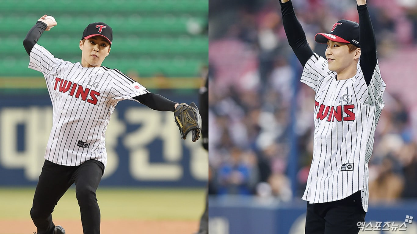 EXO's Xiumin Throws First Pitch For LG Twins To Show Support For His Favorite Team