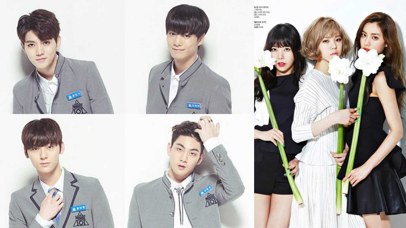 """Orange Caramel Shows Support For Labelmates NU'EST As They Compete On """"Produce 101 Season 2"""""""