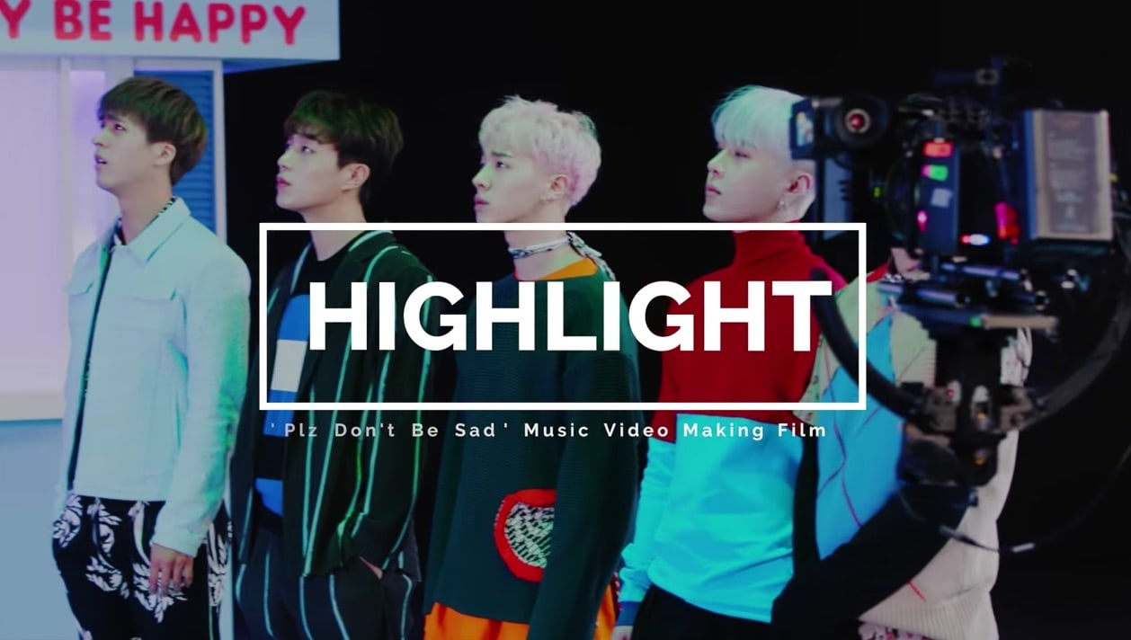 "Watch: Highlight Has Fun In Behind-The-Scenes Making Film Of ""Plz Don't Be Sad"" MV"