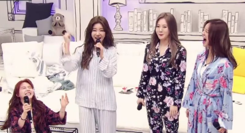 "Watch: Girl's Day Members Fall Apart While Performing Hilarious Version Of ""I'll Be Yours"""