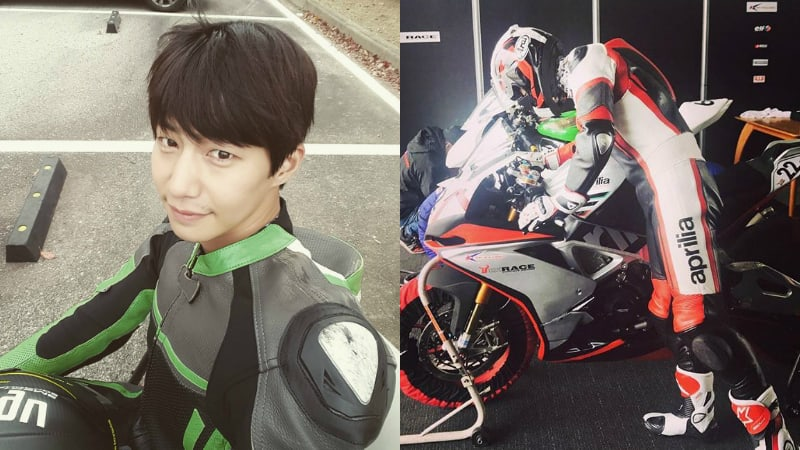 Song Jae Rim Enters Official Bike Racing Competition