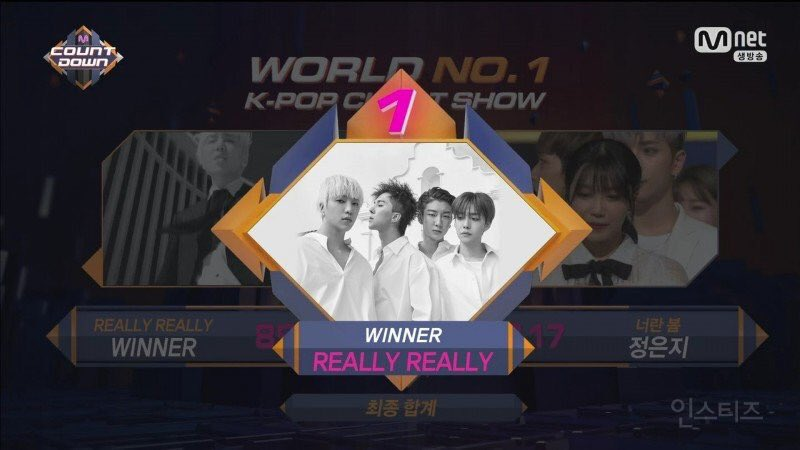 "Watch: WINNER Takes 3rd Win With ""Really Really"" On ""M!Countdown,"" Performances By DIA, Yesung, SF9, And More"