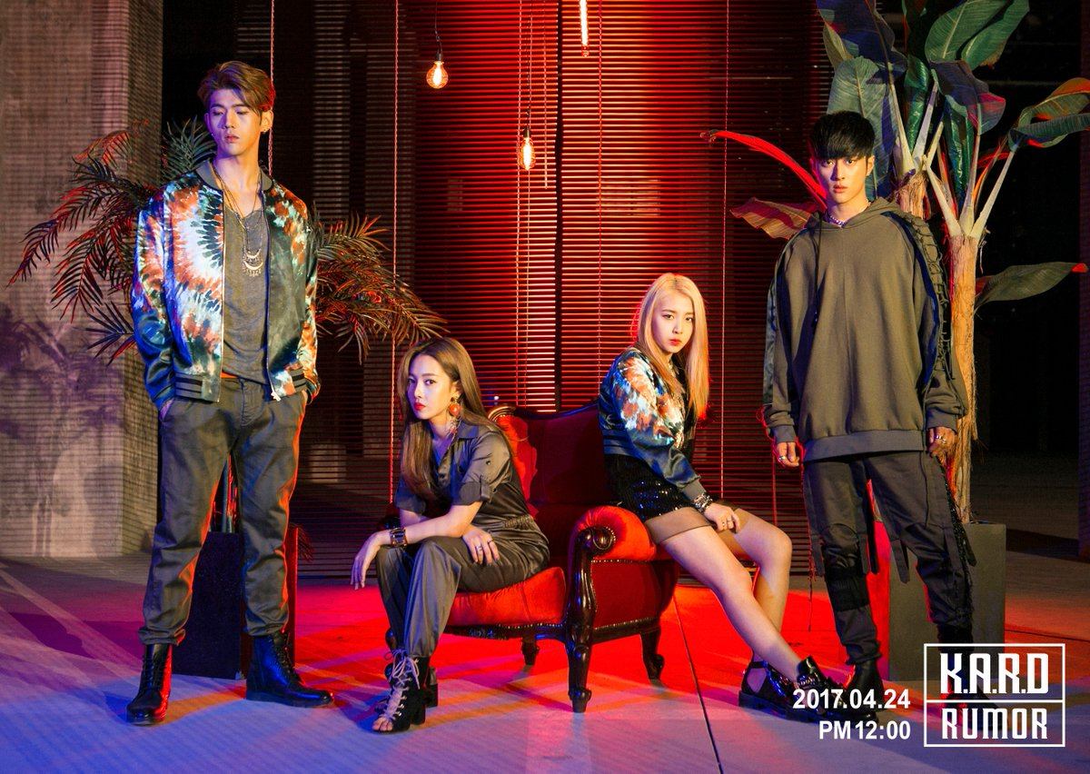 "Update: K.A.R.D Finally Drops Group Shots Ahead Of ""Rumor"" Comeback"