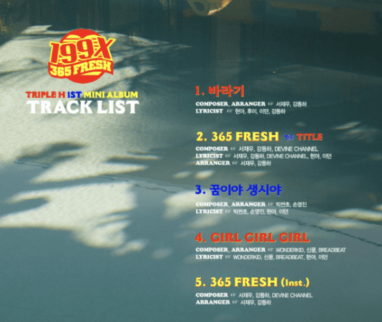 Update: Triple H Releases Track List And Title Track Details For Upcoming Mini Album